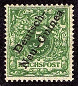 German New Guinea 1897 5pf definitive stamp with overprint