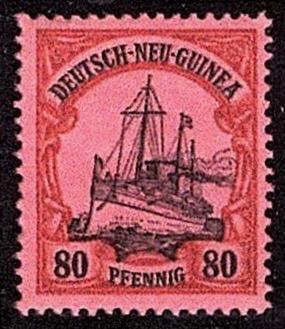 German New Guinea 1901 80pf yacht key-type stamp