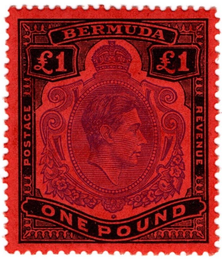 Bermuda 1938-1953 George VI £1 definitive