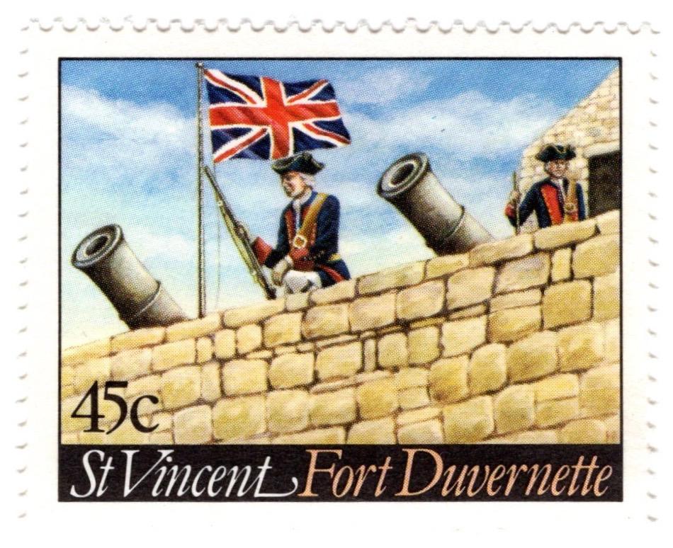 St Vincent 1984 Fort Duvernette 45c stamp