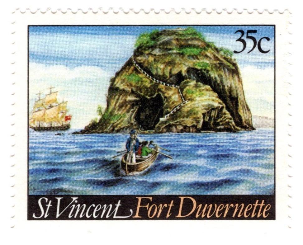 St Vincent 1984 Fort Duvernette 35c stamp