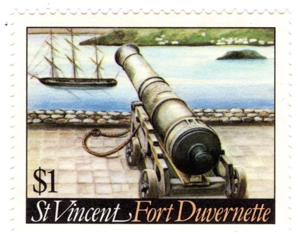 St Vincent 1984 Fort Duvernette $1 stamp