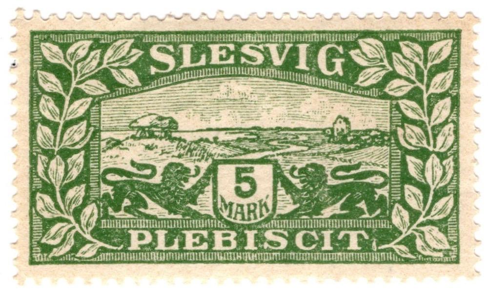 Northern Slesvig plebiscite 1920 5m stamp