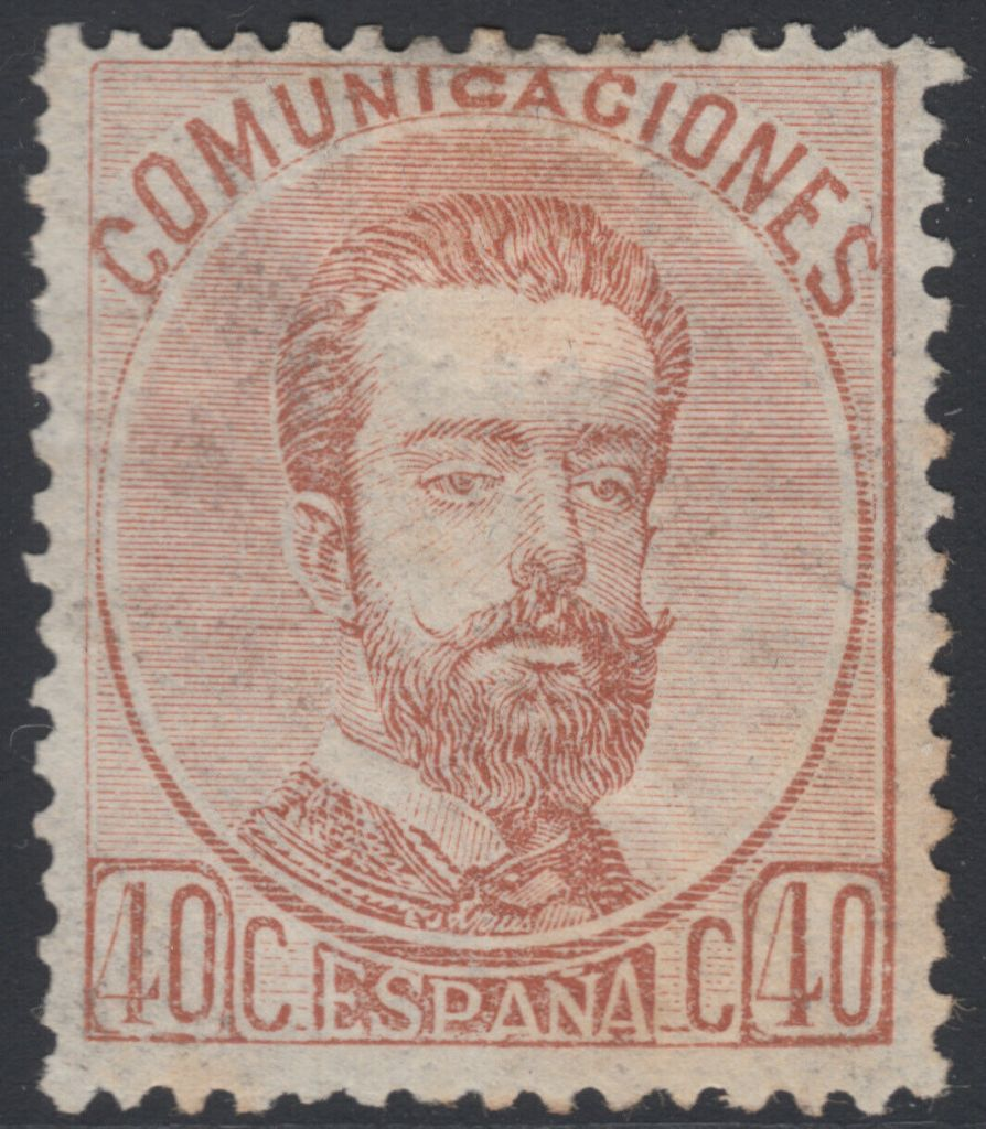 pain 1872 40c stamp featuring King Amadeo I