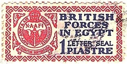 1932 Egypt 1p British Forces Letter Seal