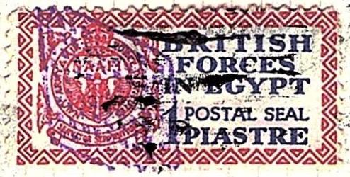 1932 Egypt 1p British Forces Postal Seal