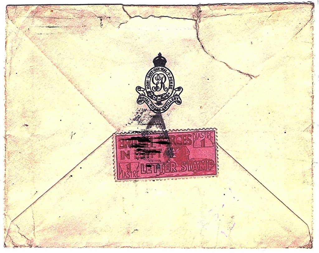 Envelope for letter sent from Cairo, Egypt to Canterbury, England in 1936