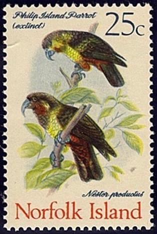 Norfolk Island 1970-71, Birds 25c stamp