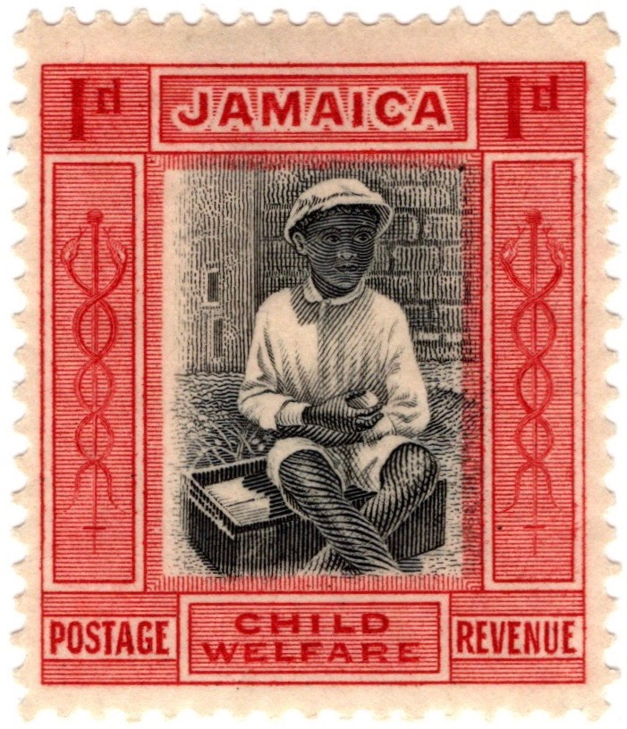 Jamaica 1923 Child Welfare stamp issue in aid of Child Welfare League